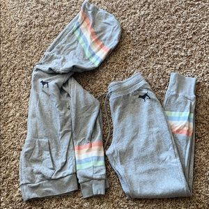 Victoria's Secret PINK hoodie and joggers SET